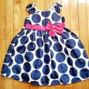 Toddler polka dot formal dress
